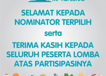 Pengumunan Nominator Terpilih Lomba MP-ASI Lokal
