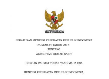 Download Peraturan Menteri Kesehatan Republik Indonesia Nomor 34 Tahun 2017 Tentang Akreditasi Rumah Sakit