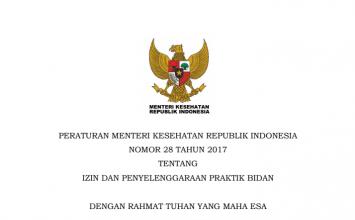 Download Peraturan Menteri Kesehatan Republik Indonesia Nomor 28 Tahun 2017 Tentang Izin Dan Penyelenggaraan Praktik Bidan