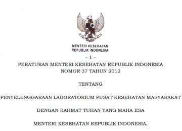 Download Peraturan Menteri Kesehatan Republik Indonesia Nomor 37 Tahun 2012