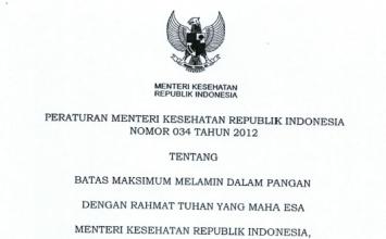 Download Peraturan Menteri Kesehatan Republik Indonesia Nomor 34 Tahun 2012