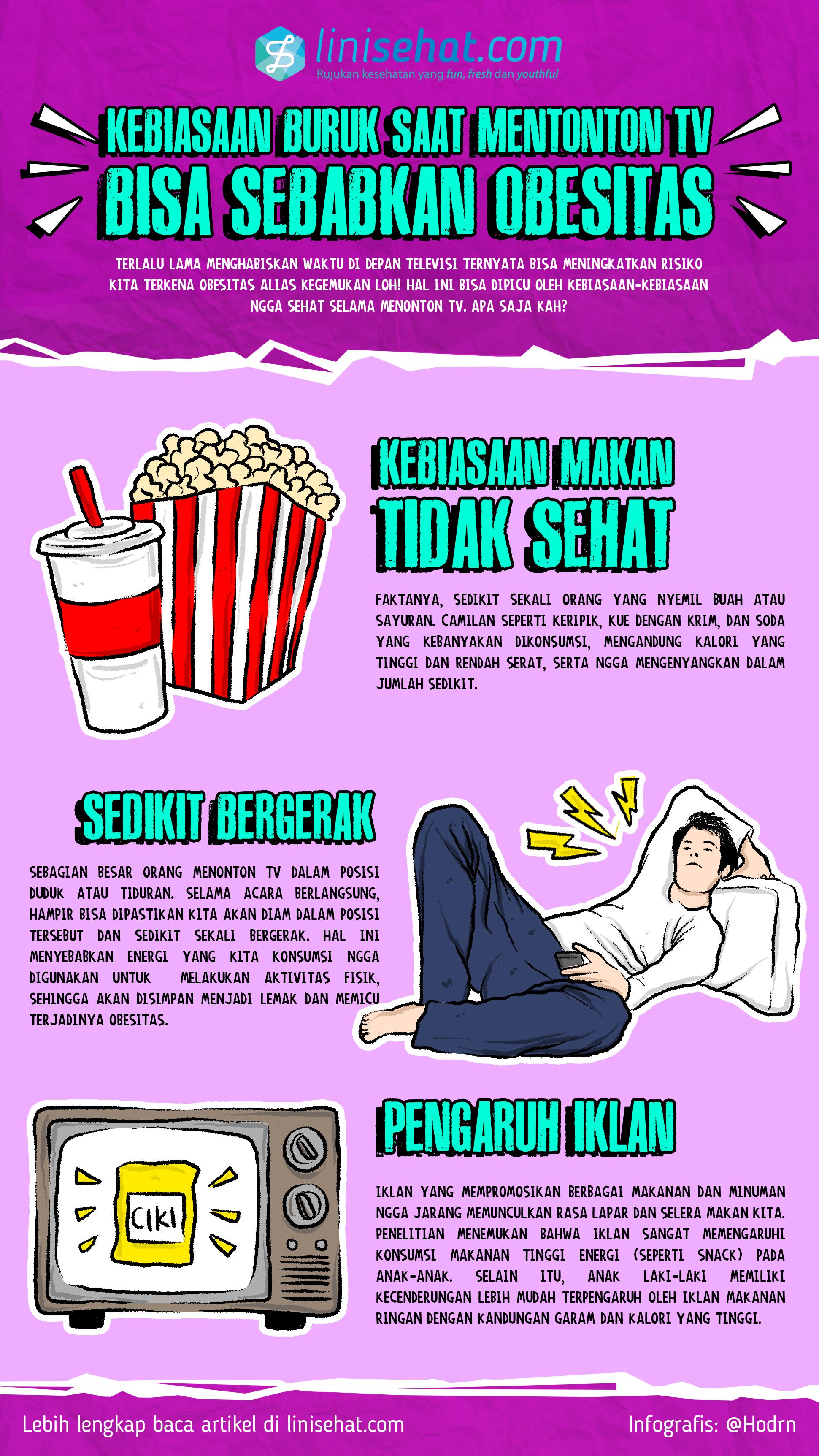 Kebiasaan Buruk Saat Menonton Tv Bisa Sebabkan Obesitas Linisehat Com