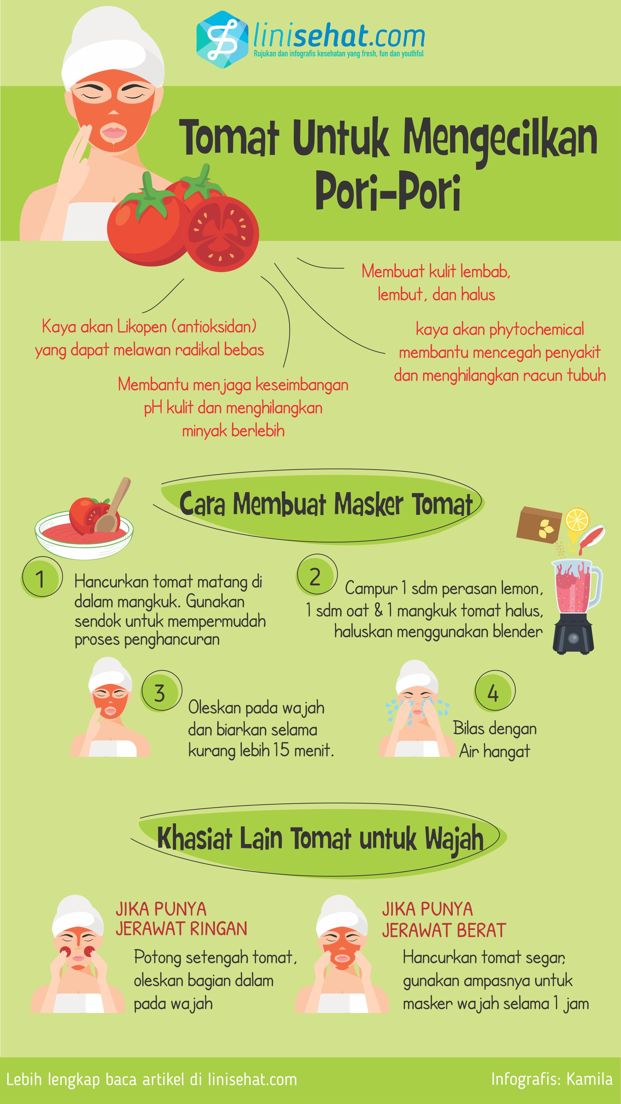 Tomat Untuk Mengecilkan Pori Pori Kenapa Ngga Linisehat Com