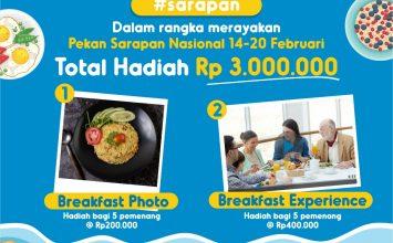 Breakfast Prize senilai total Rp 3.000.000 dalam rangka Pekan Sarapan Nasional 2021