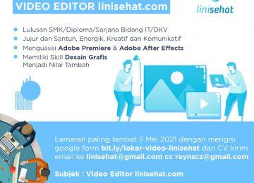 Lowongan Kerja Video Editor linisehat.com
